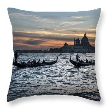 Gondole Al Tramonto Sam210x Throw Pillow