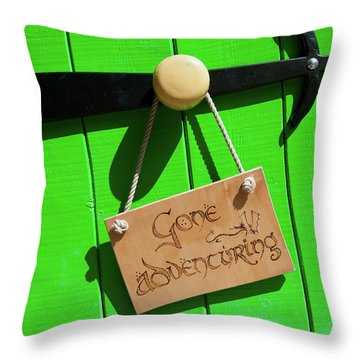 Gone Adventuring Throw Pillow
