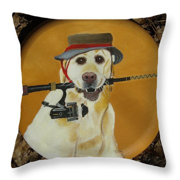 Gone Fishin' Throw Pillow