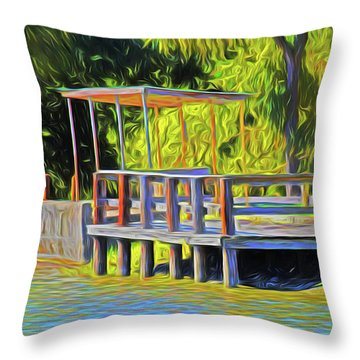 Gone Fishing 18-11 Throw Pillow