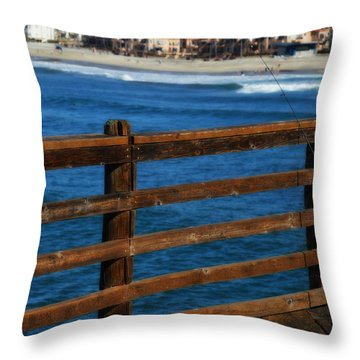 Gone Fishing In Color Throw Pillow
