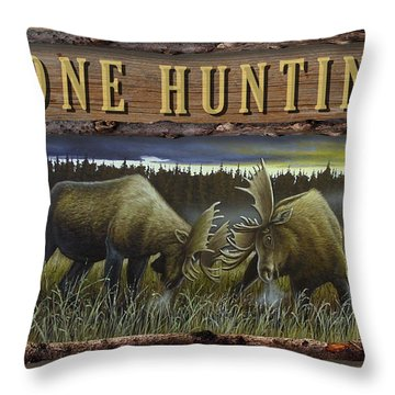 Gone Hunting - Locked At Lac Seul Throw Pillow