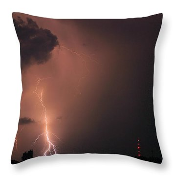 Gone In A Flash Throw Pillow