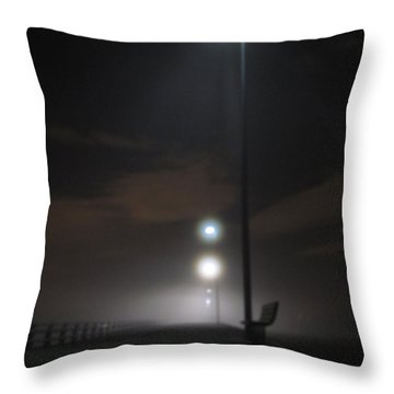 Throw Pillow featuring the photograph Gone To The Mist by Digital Art Cafe