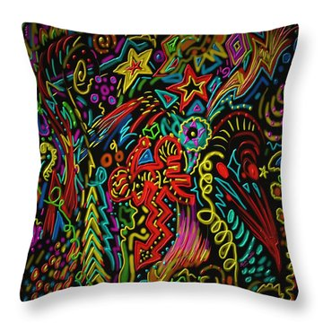 Gone Wild Throw Pillow