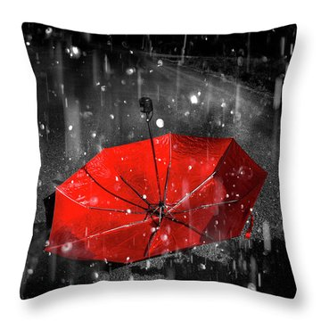 Gone With The Rain Throw Pillow