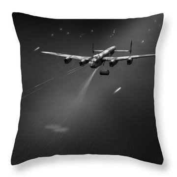 Throw Pillow featuring the photograph Goner From Dambuster J-johnny Bw Version by Gary Eason