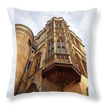Throw Pillow featuring the photograph Gonville And Caius College Library Cambridge by Gill Billington