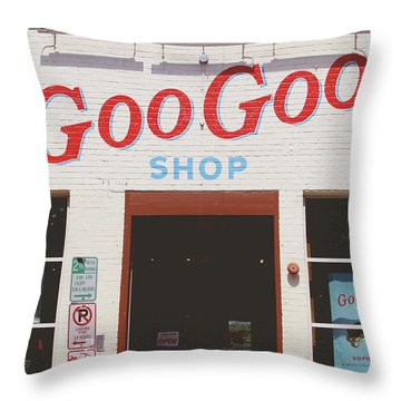 Goo Goo Shop- Photography By Linda Woods Throw Pillow