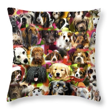 Throw Pillow featuring the photograph Good Boys by John Rizzuto