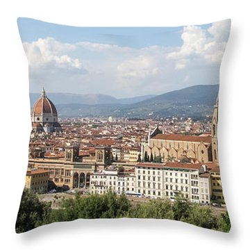 Goodbye To Florence Throw Pillow by Allan Levin