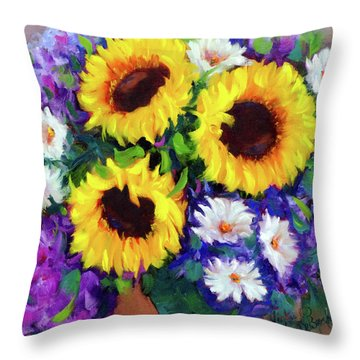Good Day Sunflowers Throw Pillow