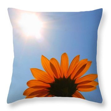 Good Day Sunshine Throw Pillow by Jesse Ciazza