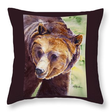 Good Day Sunshine - Grizzly Bear Throw Pillow