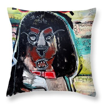 Throw Pillow featuring the painting Good Dog by Rick Baldwin
