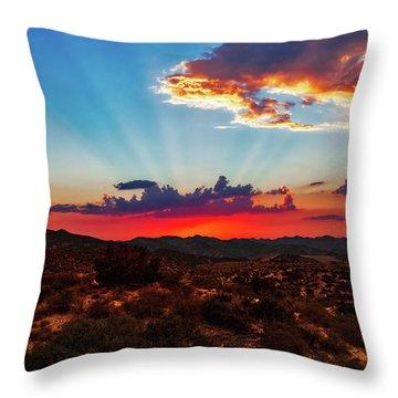 Throw Pillow featuring the photograph Good Evening Arizona by Rick Furmanek