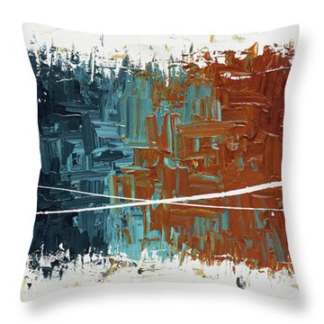 Throw Pillow featuring the painting Good Feeling - Abstract Art by Carmen Guedez