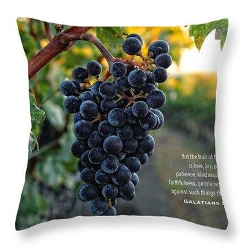 Good Fruit Throw Pillow by Lynn Hopwood