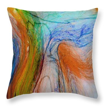 Throw Pillow featuring the digital art Good Is Coming 1 by Kate Word