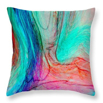 Throw Pillow featuring the digital art Good Is Coming 2 by Kate Word