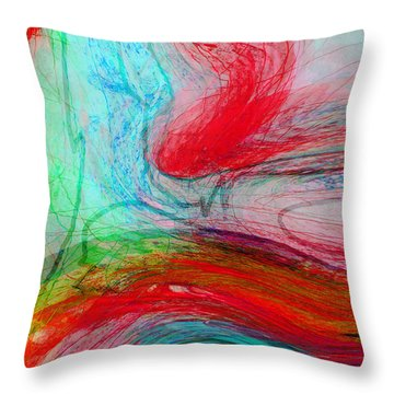 Throw Pillow featuring the digital art Good Is Coming 3 by Kate Word