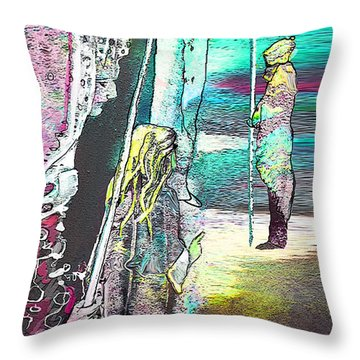 Good Lord Show Me The Way Throw Pillow by Miki De Goodaboom
