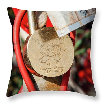 Good Luck Hama And Cama Throw Pillow