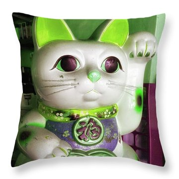 Throw Pillow featuring the photograph Good Meowning. I Feel So Lucky Today by Mr Photojimsf