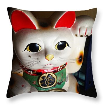 Throw Pillow featuring the photograph Good Meowning. #myfab5 by Mr Photojimsf