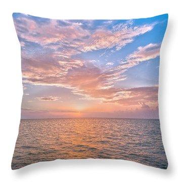 Good Morning Aransas Bay Throw Pillow