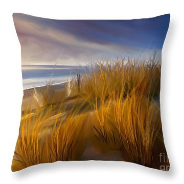 Good Morning Beach Day Throw Pillow