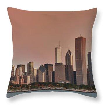 Good Morning Chicago Panorama Throw Pillow by Sebastian Musial