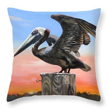 Good Morning Florida Throw Pillow