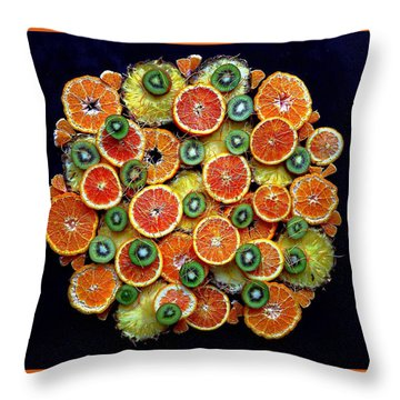 Good Morning Fruit Throw Pillow