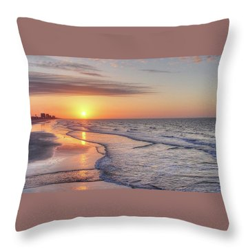 Good Morning Grand Strand Throw Pillow