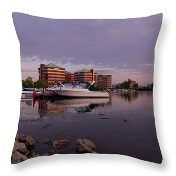 Throw Pillow featuring the photograph Good Morning Harbor by Joel Witmeyer