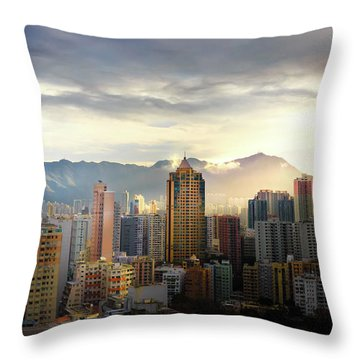 Good Morning, Hong Kong Throw Pillow