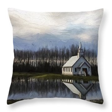 Good Morning - Hope Valley Art Throw Pillow by Jordan Blackstone