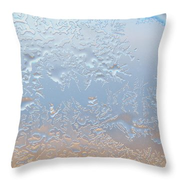 Good Morning Ice Throw Pillow by Kae Cheatham