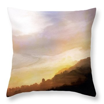 Throw Pillow featuring the painting Good Morning by Mark Taylor