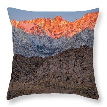 Good Morning Mount Whitney Throw Pillow