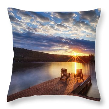 Good Morning Sun Throw Pillow