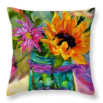 Throw Pillow featuring the painting Good Morning Sunshine by Chris Brandley