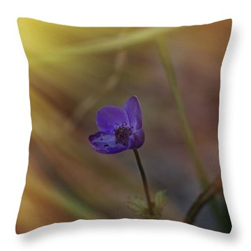 Good Morning Sunshine On Blue Throw Pillow by Angela A Stanton