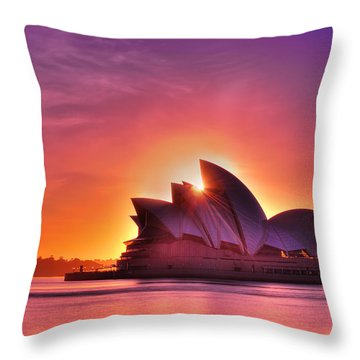 Good Morning, Sydney Throw Pillow