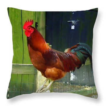 Good Morning To Ya' Throw Pillow by Christy Ricafrente