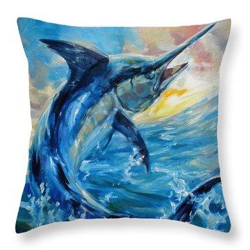 Good Morning Throw Pillow by Tom Dauria