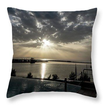 Good Morning Vacation Throw Pillow
