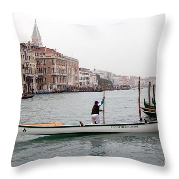 Good Morning Venice Throw Pillow