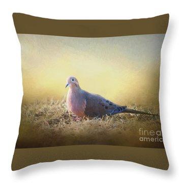 Good Mourning Dove Throw Pillow